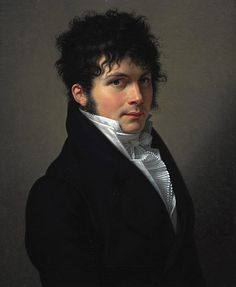 Portrait of a Young Man by François-Xavier Fabre. 1809. Fabre probably painted the picture during a brief return visit from to Paris from Italy.