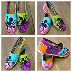 Hand Painted Octopus TOMS Shoes