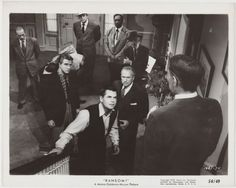 Glenn Ford + Leslie Nielsen 1956 Vintage 8x10 STILL PHOTO Ransom 1685-74