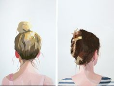 There's no doubt about it, the top knot rocks. Elizabeth Mayville thinks a messy bun is pretty ace as well.