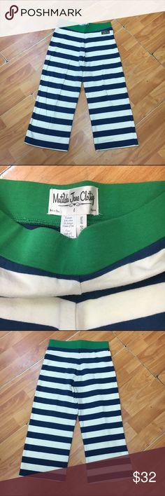 Matilda Jane Good Hart Anchors Away Straightees 6 Matilda Jane Good Hart Anchors Away Straightees Pants 6  Super cute!  Minimal to no wash wear.  #straightees #anchorsaway #goodhart #mjaddicts #pants #stripes #striped #stripe Matilda Jane Bottoms Casual