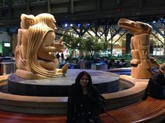 Yellow Cedar sculptures by Haida artist Bill Reid at Vancouver Airport  Suchandan Vasisht