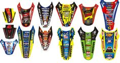 Rusk Racing Custom Motocross Graphics and decals thick stickers Motocross Stickers, Bike Stickers, Iron Man Birthday, Betta Fish, Motogp, Cars And Motorcycles, Yamaha, Decals, Bicycle