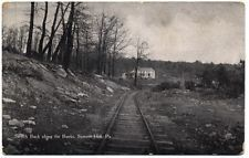 SUMMIT HILL PA-RAILROAD SWITCH BACK-CARBON COUNTY PENNSYLVANIA