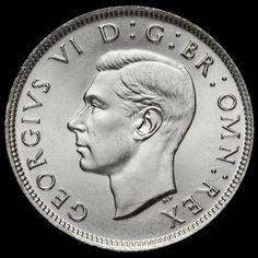 1942 George VI Silver Two Shilling Coin / Florin, BU