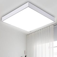TYDXSD Quadratische LED Lampe Beleuchtung Wohnzimmer Lampe modern minimalistisches Schlafzimmer warme Decke wenig Raum eine Studie Lampe 430 * 430mm , white
