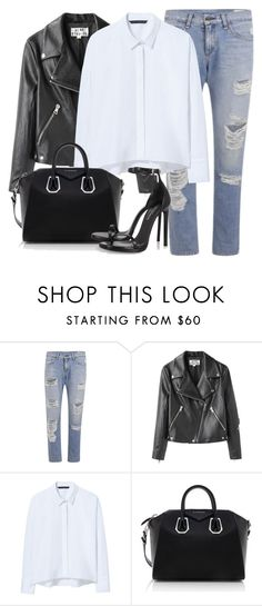 """""""Untitled #2687"""" by elenaday ❤ liked on Polyvore featuring rag & bone, Acne Studios, Zara, Givenchy and Yves Saint Laurent"""