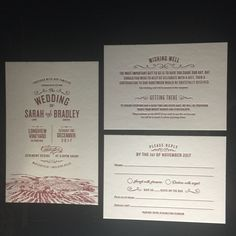 Marsala ink so perfect for this winery wedding letterpress suite