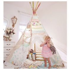 Custom order for Glam teepee with order form by DollyandFrances, $350.00. I want one. I filed it under kids, like I would give it to Quinnah, but let's be honest: it would be mine.