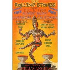 Stones Altamont Poster