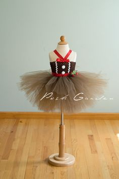 Items similar to Gingerbread tutu dress. Brown tulle brown crochet top with gingerbread bodice. Great for Recitals on Etsy Diy Tutu, Tulle Tutu, Tulle Dress, Tutu Dresses, Christmas Tutu Dress, Christmas Costumes, Christmas Crafts, Xmas, Christmas Outfits