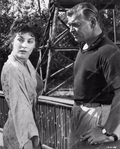 photo Clark Gable Ava Gardner film scene Mogambo 1407-14