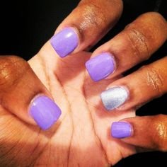 Purple and Silver nails!