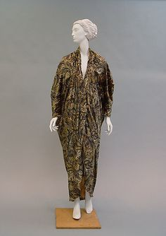 Evening coat Paul Poiret  Date: 1913–19 Culture: French Medium: silk, metallic thread Accession Number: 1980.86