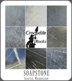 Who knew there were so many different soapstone colors to choose from! Check out Crocodile Rocks in Seattle for the best selection in the country!