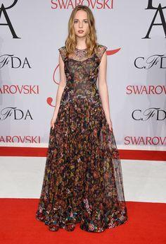 2015 CFDA Fashion Awards -  Maya Thurman-Hawke in Zac Posen
