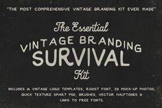 The Vintage Branding Survival Kit by RetroSupply Co. on Creative Market