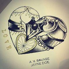 Swan tattoo idea
