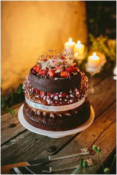Naked Rustic Wedding Cakes