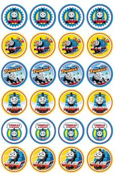 24 x Thomas the tank edible image cupcake toppers Pre Cut in Home & Garden, Parties, Occasions, Cake   eBay