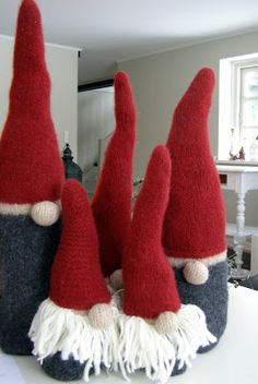 Christmas Gnome, Christmas Knitting, Christmas Crafts, Christmas Decorations, Xmas, Scandinavian Gnomes, Chrochet, All Things Christmas, Elves