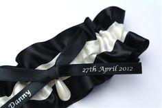 Black Wedding Garters