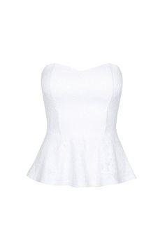 505a5c504ccd9  White  Lace  Peplum  Top  TALLYWEiJL  Summer  MustHave Tally Weijl