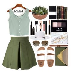 """beyond summer."" by montestyle ❤ liked on Polyvore featuring Alexander McQueen, Billabong, Dareen Hakim, Tiffany & Co., Dorothy Perkins, House of Lafayette, NYX, Gucci, Bare Escentuals and Clinique"