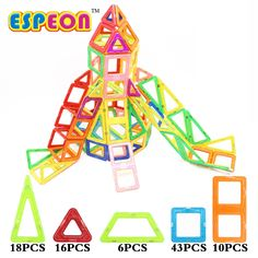 49.67$  Buy now - http://ali6yf.shopchina.info/go.php?t=32794839480 - Espeon 93 Pcs Nomal Size Slide Magnetic Designer Creator Educational Magnetic Toys 3D DIY Building Blocks Bricks Kids Toys Gift 49.67$ #magazine