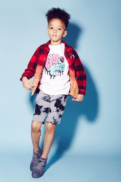 Faded checks and tie dye from Ruff and Huddle for spring 2015 kids fashion with street appeal