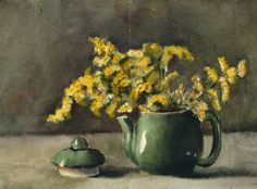Georgia O'Keeffe. Untitled (Teapot and Flowers) 1903-1905