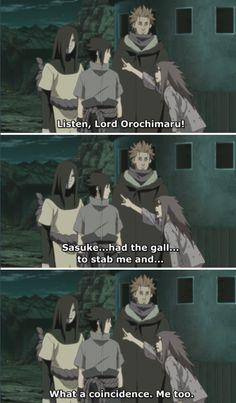 <3 Orochimaru, Sasuke, Jugo & Karin