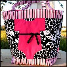 Onesie Diaper Bag | YouCanMakeThis.com This so adorable!