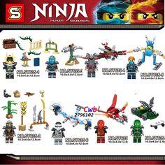 8pcs Masters of Spinjitzu Green Red Ninja Series New Season lepin building blocks figure model Gift bricks toys for children-in Blocks from Toys & Hobbies on Aliexpress.com   Alibaba Group