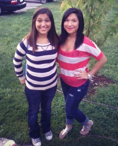 Younger sister Anita. She's a #Freshman First day of school. Me #Junior