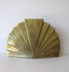 Fabulous Art Deco Brass Vase Vintage Home by jewelryandthings2, $45.00