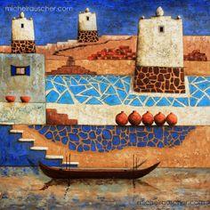 Michel RAUSCHER | Peintures - Huile sur toile - 100 x 100 cm - 2012