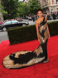 Nina Dobrev- Met Ball 2012. The train of this dress is so fluid it's Amazing