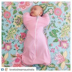 So pretty in pink! #Repost @lovetodreamaustralia with @repostapp. ・・・ Long weekend sleep in #babygirl #baby #armsup #swaddle #swaddleup #sleepinglikeababy #lovetodream #lovetodreamaustralia