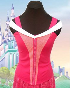Be sure to sparkle and stand out from the crowd. Made to order the perfect costume for running your next Disney Princess race. This top has a
