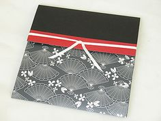 79 best envelopes images on pinterest origami envelope papercraft an oriental japanese style wedding inivtations envelopments in black ivory and red with fans and minimalist stopboris Image collections