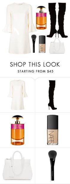"""""""Untitled #10"""" by glclimo ❤ liked on Polyvore featuring Valentino, Christian Louboutin, Prada, NARS Cosmetics, Marsèll and Gucci"""