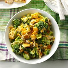 Slow-Cooked Broccoli Recipe -This family-favorite side dish is quick to fix and full of flavor. Since it simmers in a slow cooker, it frees up my oven for other things. That's a great help when I'm prepping a big meal at home. —Connie Slocum, Antioch, Tennessee