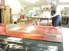 Notre verrerie #forge #design #wood #bois #acier #steel #atelier #workshop #hand #made  #glass #verre