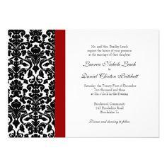 Elegant damask red and black wedding invitations ewi020 wedding elegant damask red and black wedding invitations ewi020 wedding invitations pinterest red wedding invitations red wedding and weddings filmwisefo