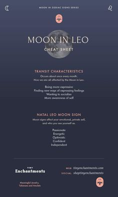 The Leo Moon – Leo moon sign and moon in Leo transit meanings – leo constellation tattoo Aries Moon Sign, Moon In Leo, Taurus Moon, Moon Signs, Moon Zodiac, Moon In Aquarius, Sagittarius Moon, Gemini, Astrology Planets