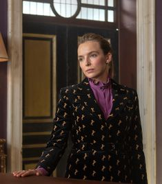 The 7 Key Pieces In Villanelle's Stylish 'Killing Eve' Wardrobe Sheer Sleeve Dress, Dresses With Sleeves, Popsugar, Chic Outfits, Fashion Outfits, Burberry Dress, Jodie Comer, Fashion Tv, Female Fashion