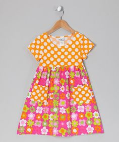 Take a look at this Citrus Fab Floral Pocket Dress - Infant, Toddler & Girls by Bubble & Squeak on #zulily today!