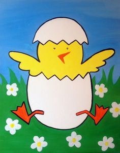 I am going to paint Spring Chick at Pinot's Palette - Ellicott City to discover my inner artist!