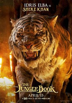 The Jungle Book Idris Elba Shere Khan Poster